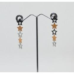 Orecchini con stelle pendenti